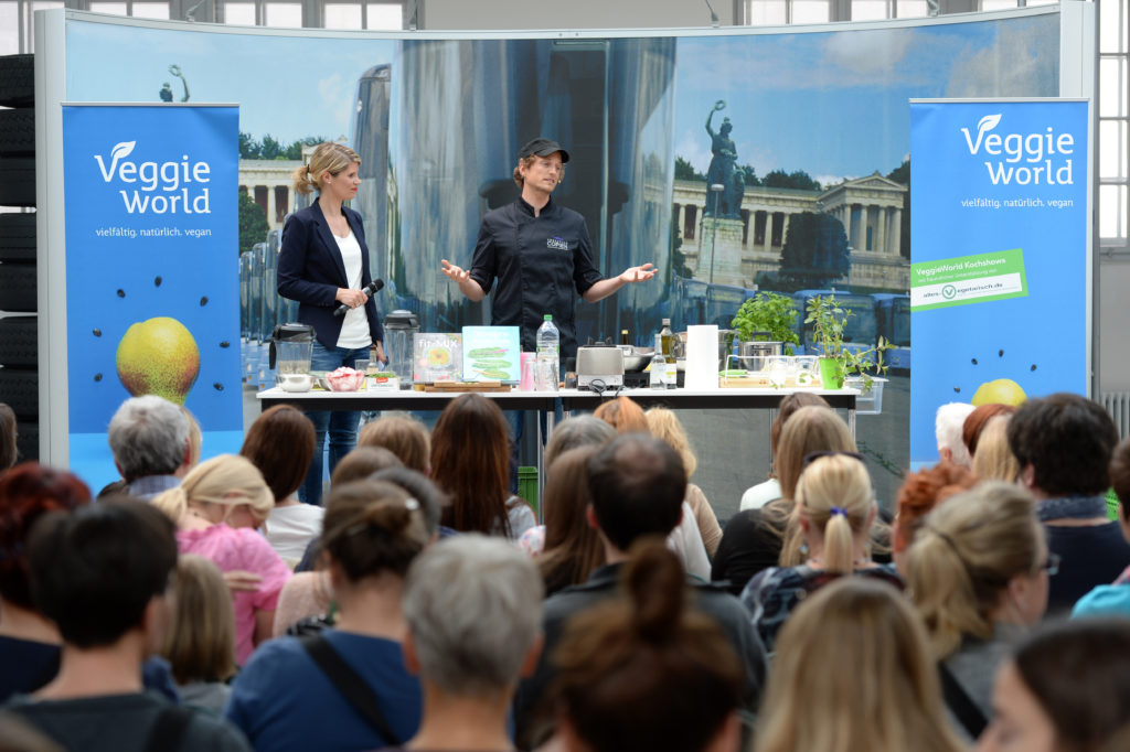 Veggie World in München am 30.04.2016. Foto: Andreas Gebert